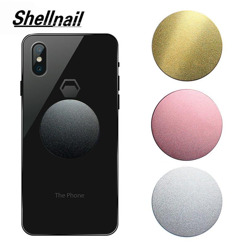 SHELLNAIL  Car Air Mount Stand Phone Socket Replace Scrub Metal Plates For Magnetic Car Mount Phone Holder Ultra Slim Iron Sheet