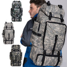 70L Outdoor Military Rucksacks Tactical Bag Camping Hiking Trekking Backpack Large Waterproof Backpacks Camouflage Army Bags