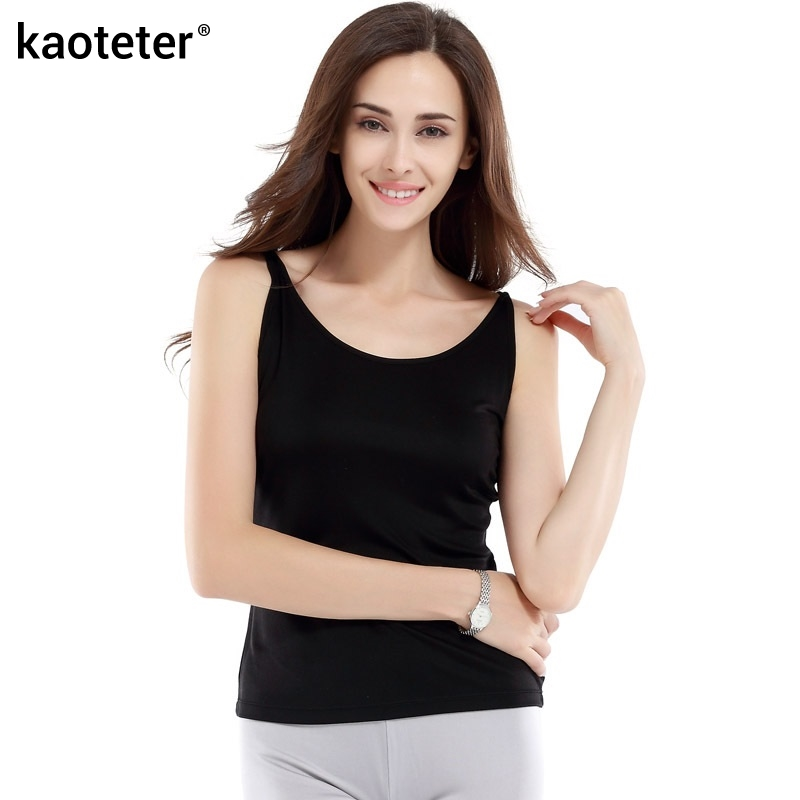 100% Pure Silk Women's Camisole Femme Casual Thin Round Neck Sleeveless Women Sling Camis Female Tank Tops Woman Halter Tops