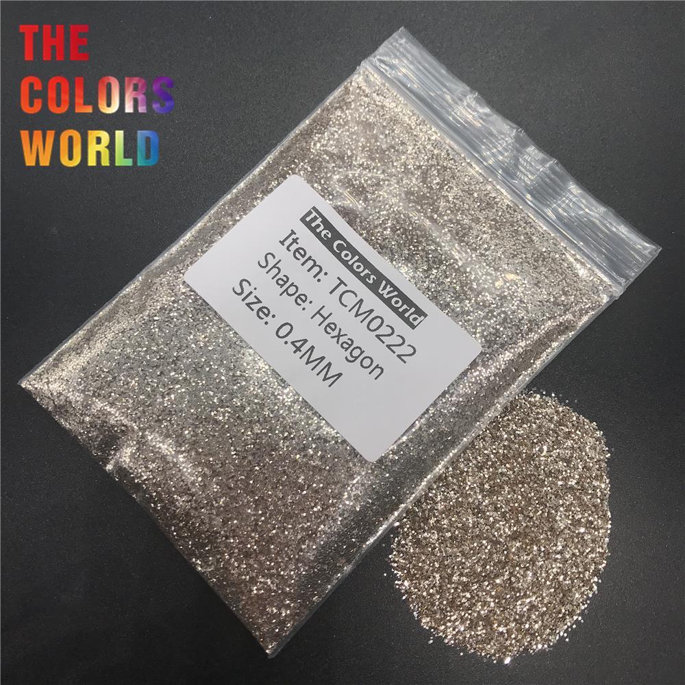 TCM0222 Платиновый цвет металлик блеск Шестигранная форма блеск для ногтей художественное украшение макияж блеск для тела хна ручной работы DIY