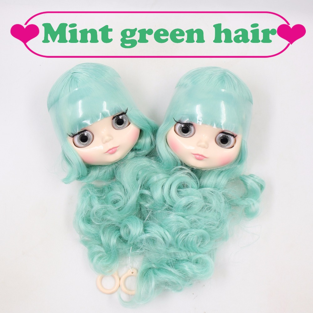 Factory blyth head only without body short long mint green hair BL4006