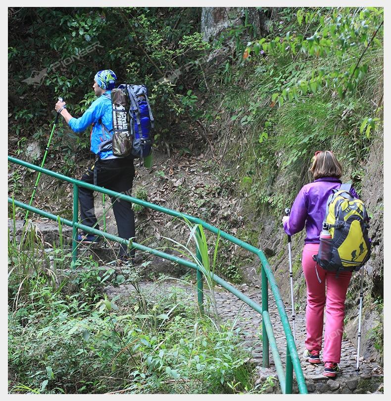 3 2-Seção Bengalas de Trekking Pole Alpenstock
