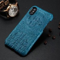 5 Colors New For Iphone X 5 8 Back Cover Crocodile Pattern Real Natural Cow Skin