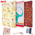 2016 Newest Cheap Ultra-thin Cute Painted PU Leather Flip Smart Case For iPad Air With Sleep & Wake up Funda Capa Cover