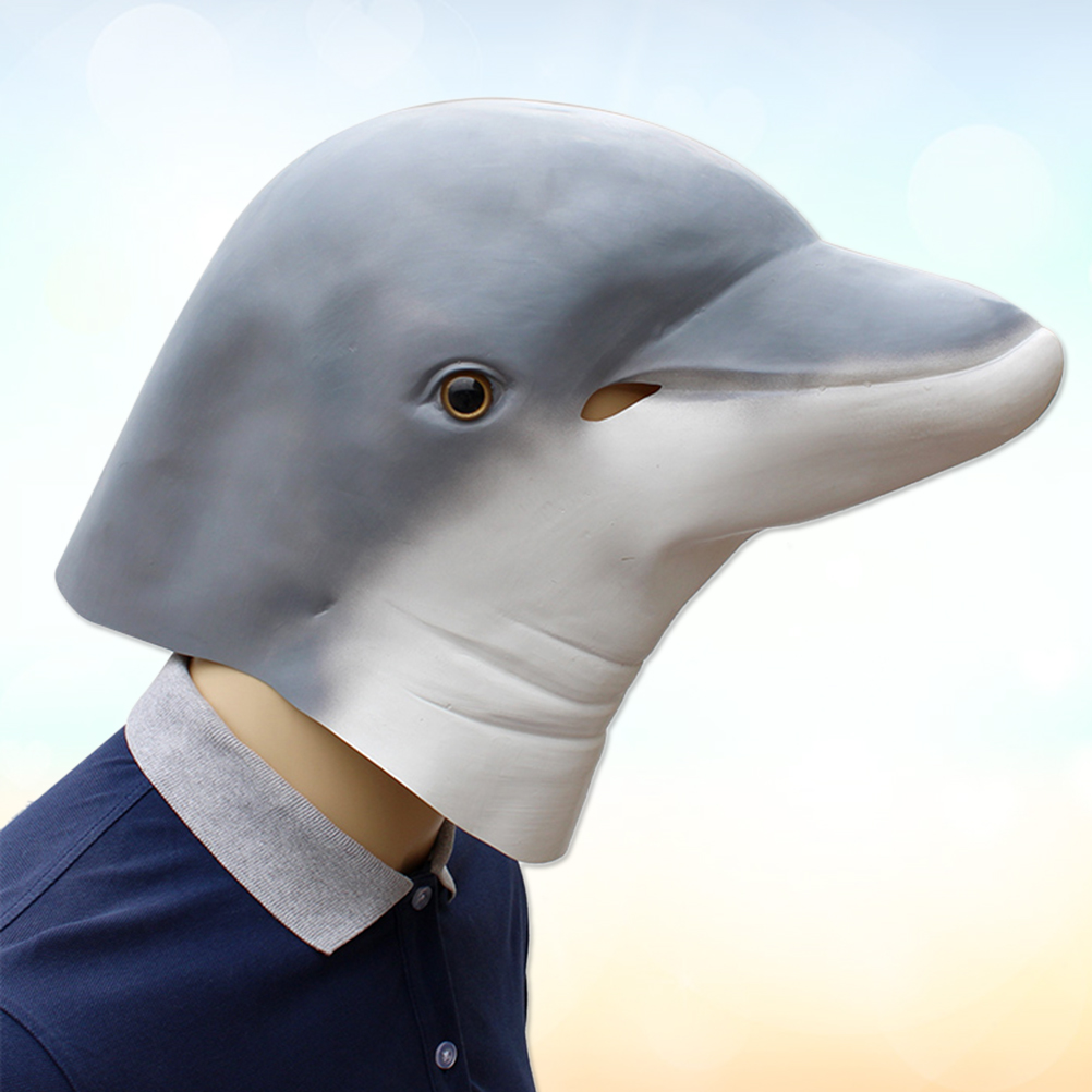 Full DOLPHIN Mask Quality Latex Face Mask Halloween Adult Unisex Womens Mens NEW