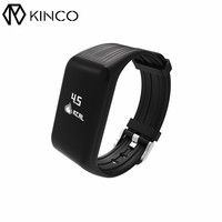 KINCO Bluetooth Waterproof Heart Rate Detection Intelligent Anti-lost Smart Wristbands Sport Monitor Bracelet for IOS/Android