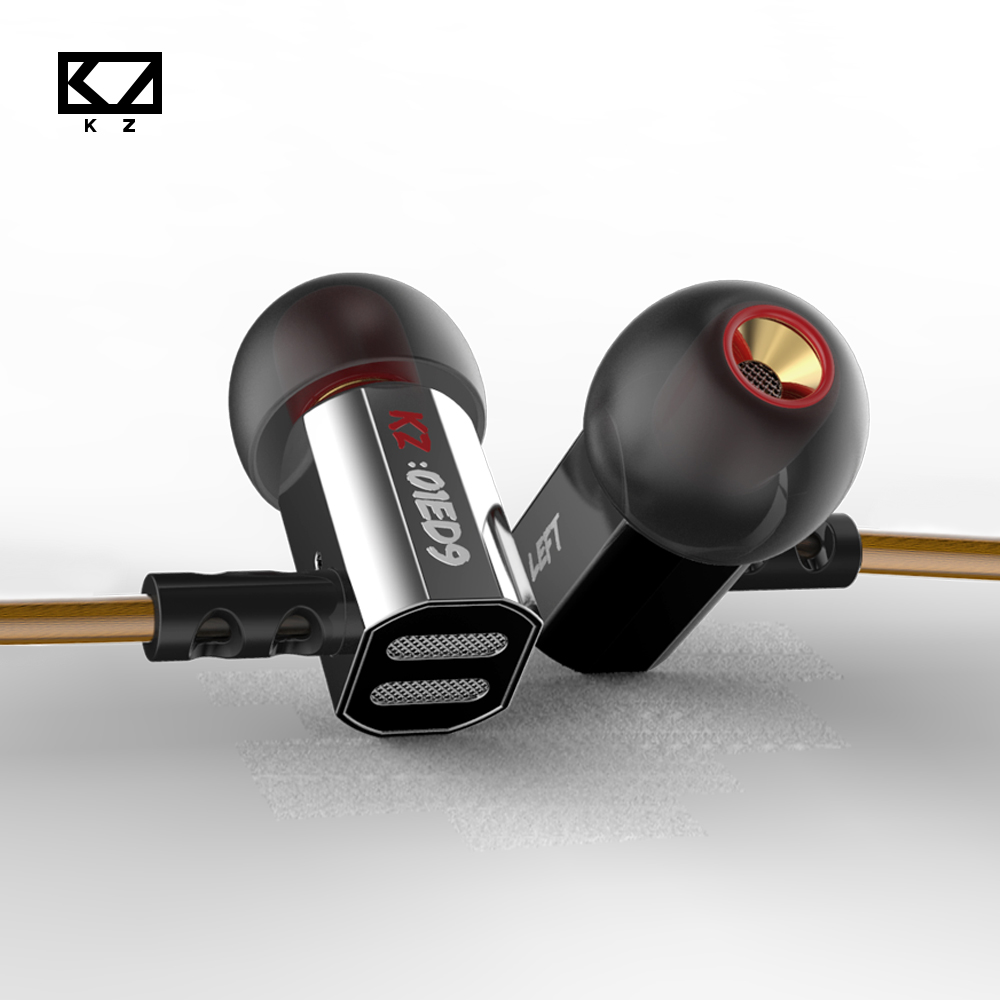 KZ ED9 HiFi In Ear Earphones Deep Bass Super Bowl Tuning Nozzles Earphone with Microphone Transparent Sound auriculares Amazing