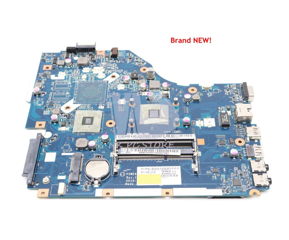 NOKOTION For Acer Aspire 5253 5250 Laptop Motherboard P5WE6 LA-7092P MBRJY02001 MAIN BOARD DDR3 With Processor Onboard
