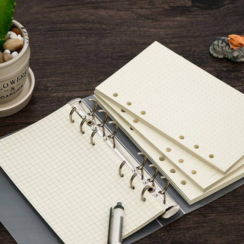 45Sheets/Pack Stationery A5  A6 A7 Dot Grid Line Loose-leaf Notebook Core Notepad Pages Customized Refill Inner Paper