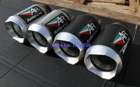 New Model Customized ID 51mm 61mm 63mm 65mm L 155mm Titanium Alloy Motorcycle Muffler Exhaust Carbon