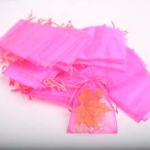 50pcs Organza Bags 10 15cm Jewelry Drawstring Packaging Bags Wedding Party Decoration Packaging Red Pink White