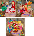 Little red riding hood mermaids story animal gloves puppet finger puppet hand puppet for children learning and educatiaonl toys