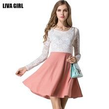 2019 Fashion Lace-Sleeve Women Summer Dress Jacquard Hollow Out Lace Vestidio Empire-Waist Slim Dress Women Casual Sweet Dress недорого