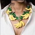 OMENG Новый Дизайн Преувеличены барокко банановых листьев колье ретро моды ключицы цепи TZ011