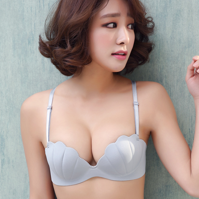 BRZFMRVL Women Invisible Bra One piece Shell Shape Cup Seamless bra X-line Straps supe Push Up bra Sexy Brassiere Bra for Summer invisible bra
