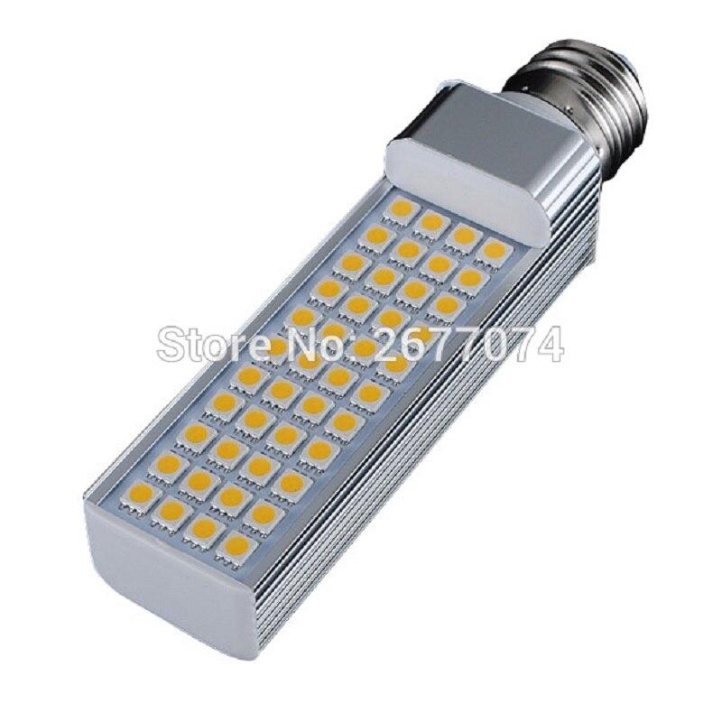 9W E27 E14 G23 G24 44 LED Horizontal Plug Light SMD5050 870LM Warm White White Decorative AC85-265V LED Flat Lights 1PCS JTFL131