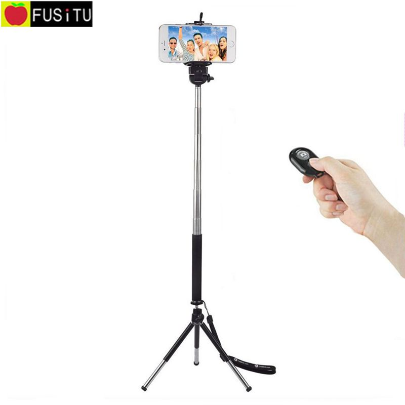 Universal Wireless Selfie Kit including Selfie Stick Tripod and Bluetooth Remote Control for Phone