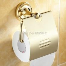 Полированный Золотой Цвет Латунь Ванной Настенные Держатель Туалетной Бумаги Ткани Держатель Рулона Wba234
