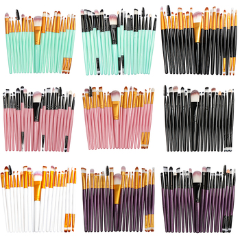 La Milee 20/5Pcs Makeup Brushes Set Eye Shadow Foundation Powder Eyeliner Eyelash Lip Make Up Brush Cosmetic Beauty Tool Kit Hot 20pcs set multicolor makeup brushes set eye shadow foundation powder eyeliner eyelash lip make up brush cosmetic beauty tool kit