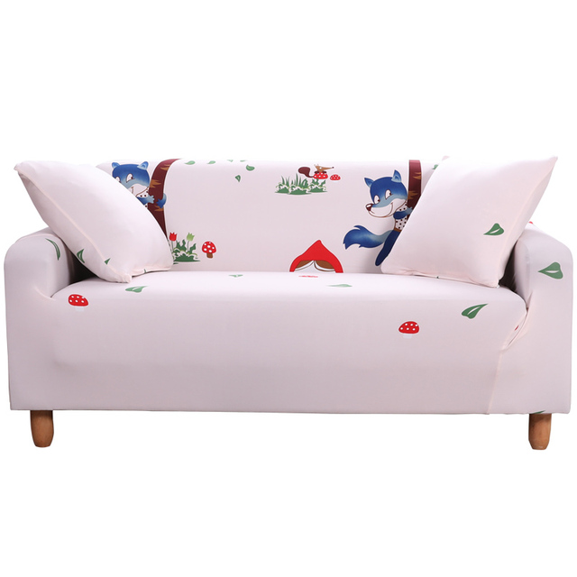 Cream White Holiday Stytle Corner Sofa Covers For Living Room Single Double Three Four Seat Anti