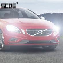Для Volvo C30 C70 S40 S60 S80 V40 V 60 V70 XC60 XC70 SCOE 2 шт. Авто низкий пучок супер галогенная лампа фары автомобиля Стайлинг теплый белый