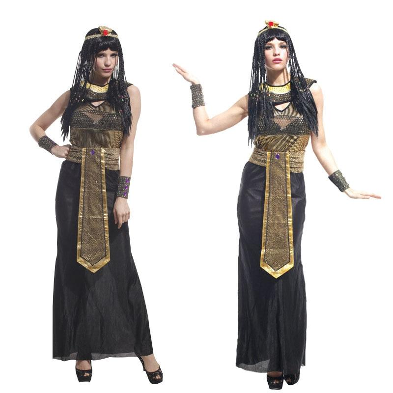 Halloween Cosplay Adult Cleopatra Costume Masquerade Party Supplies Women Sexy Egyptian Queen Dress up аксессуары для косплея neko cosplay