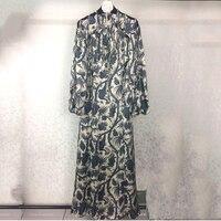 Runway Dress Printed Women Luxury Designer Dresses 2017 Tassel Dress