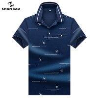 Men's business casual short sleeved Polo shirt creative bee horizontal line printing 2019 summer elegant fashion cotton Polo
