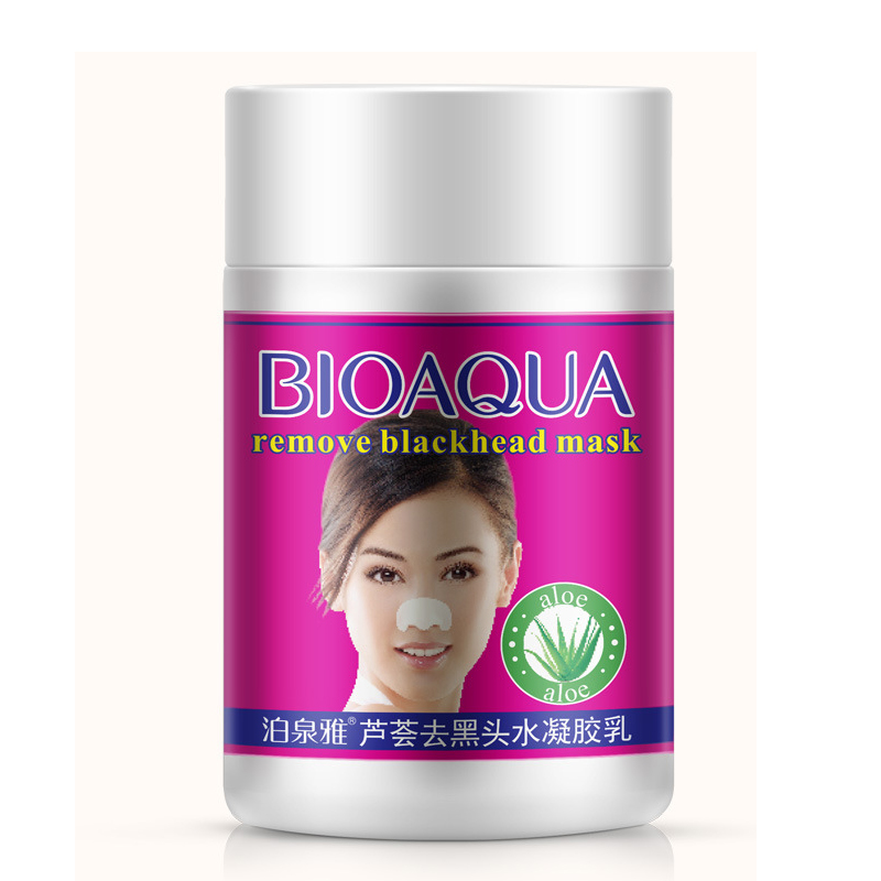BIOAQUA Skin Care Aloe Nose Mask Anti Acne Treatment Blackheads Skin Whitening Face Mask Black Head Remover Deep Cleansing Pores