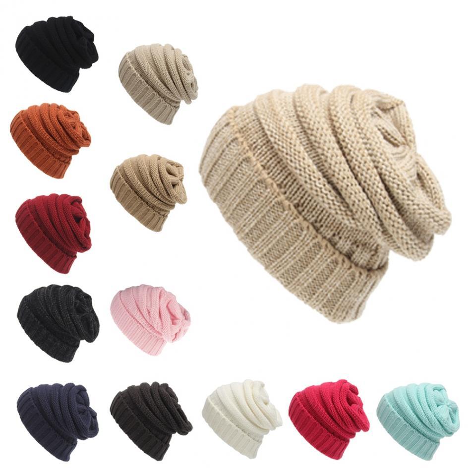ca2a74f456a Unisex Knitted Hat Outdoor Warm Ski Cap Beanie Hat Soft Wool Stretch ...