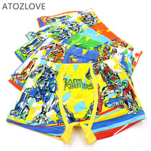 2-4T kid underwear boy underpant cartoon car man pattern panties elastic knickers summer cotton fabric shorts child boxer briefs
