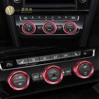 Para Volkswagen Tiguan Atlas t-roc Ateca Passat B8 variante regulador de aire acondicionado cubierta decorativa tapa del interruptor 2017 2018 2019