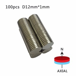 En gros 10/20/50/100 pièces N50 12mm x 1mm forte ronde aimants Dia 12x1mm néodyme aimant terres rares aimant 12*1mm