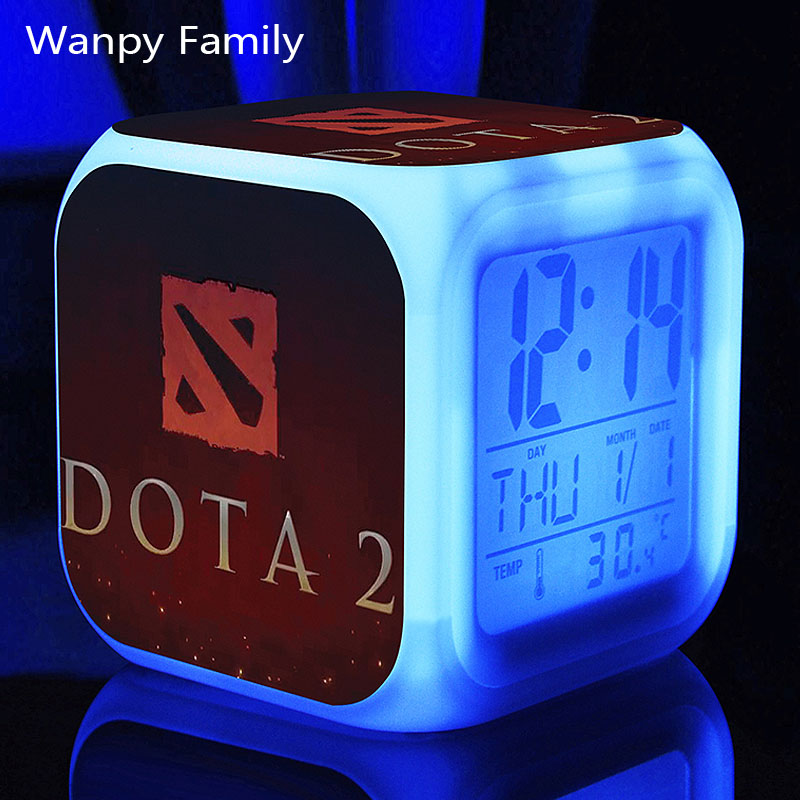 Hot game Dot Arena 2 Alarm Clocks,changing Digital Alarm Clocks For kids room Multifunction toys alarm clocks