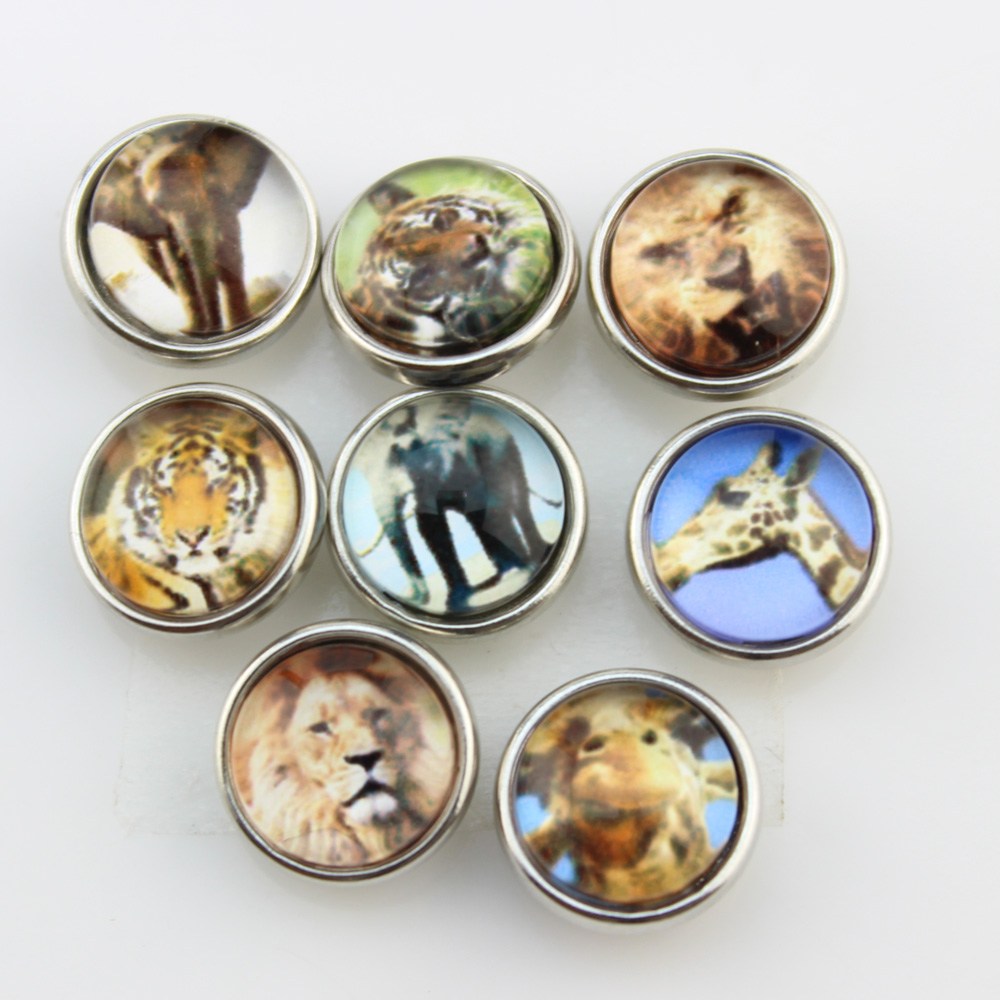 Snap button metal OTTER snap charms for snap button leather bracelets 18-19MM