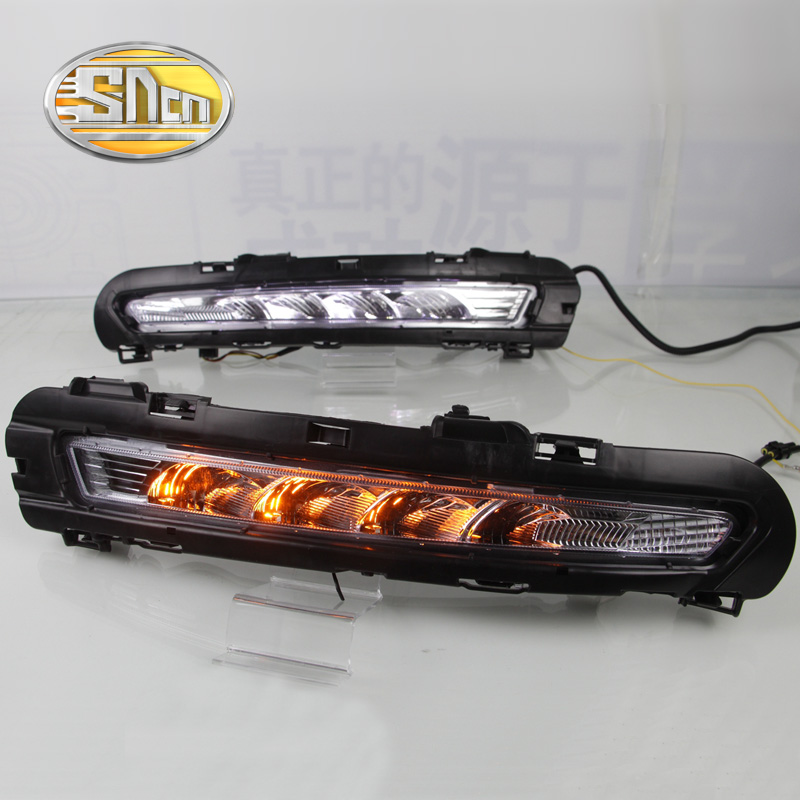 For Ford Mondeo 2010 2011 2012, Yellow Signal Function Waterproof ABS Cover Car DRL 12V LED Daytime Running Light Daylight SNCN