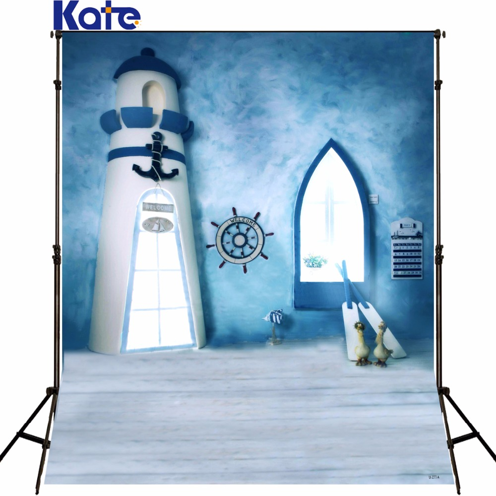 Photography Background Lighthouse Blue Sky Newborn Photo Rudder Ship Paddle Wood Floor Studio Photo Backdrop kate 5x7ft newborn baby background white cloud and blue sky photography backdrop dark wood texture floor for photo shoot studio