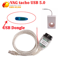 Best price VAG Tacho V5.0 For NEC MCU 24C32 or 24C64 professional ECU chip tuning tool VAGtacho 5.0 with USB dongle version