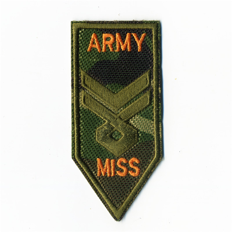 Bomber Jackets Miss Army College Style Embroidery Patches Iron On Or Sew Fabric Sticker For Clothes Badge DIY 4cm*9cm