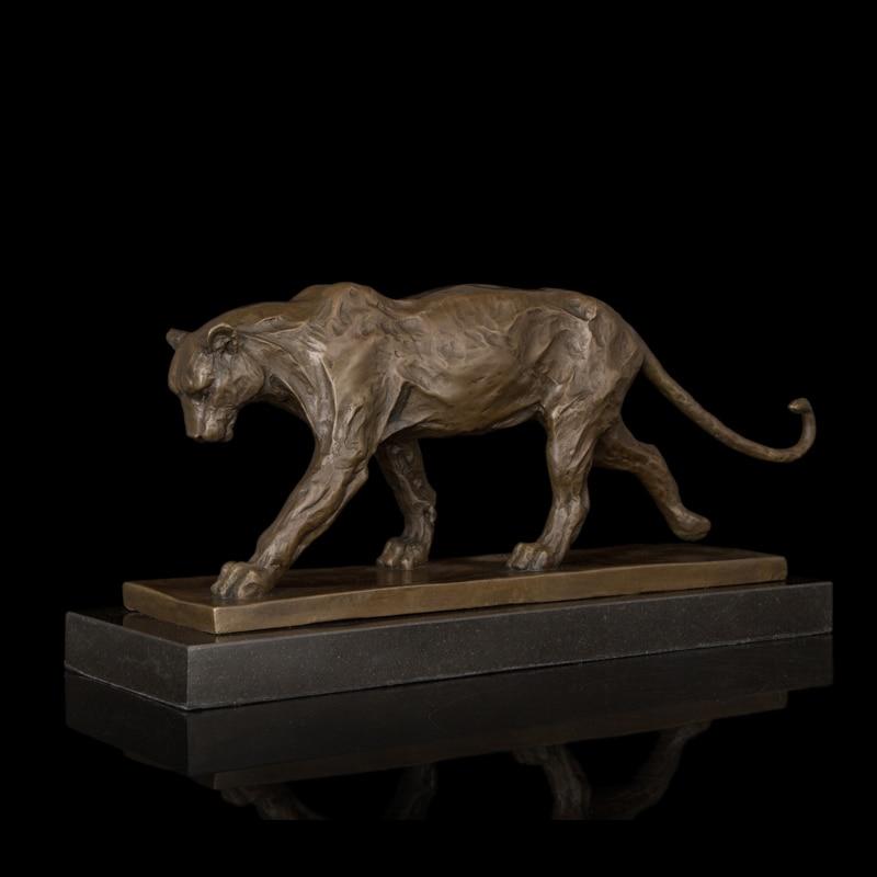 2014熱い販売ベストセラーブロンズ像ヒョウ彫刻ロストワックス鋳造チーター真鍮彫像卸売