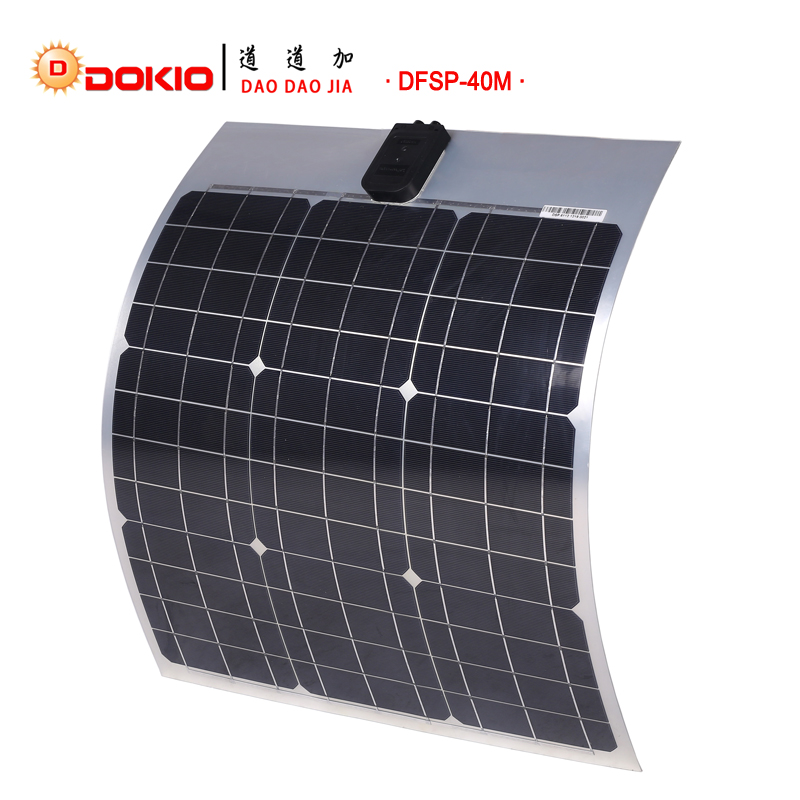 Dokio Brand Flexible Solar Panel 40w Monocrystalline