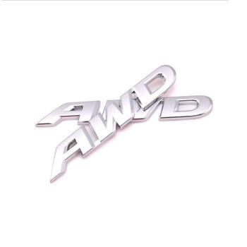 Chrome Plated Metal Zinc Alloy AWD Car Badge Logo Emblem 3D