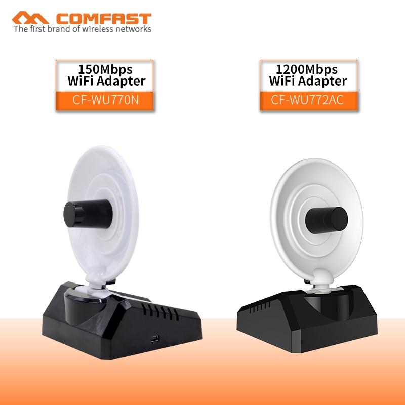 COMFAST 300Mbps ~ 1200 Mbps haute puissance 10dBi Radar antenne adaptateur sans fil routeur usb WIFI adaptateur réseau de bureau carte + câble de données