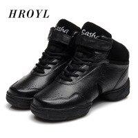 2016 New Unisex Modern gym Jazz Hip Hop Genuine Leather Platform Dance Sneakers Shoes Sport FeatureDance Ballroom Sneakers B52A