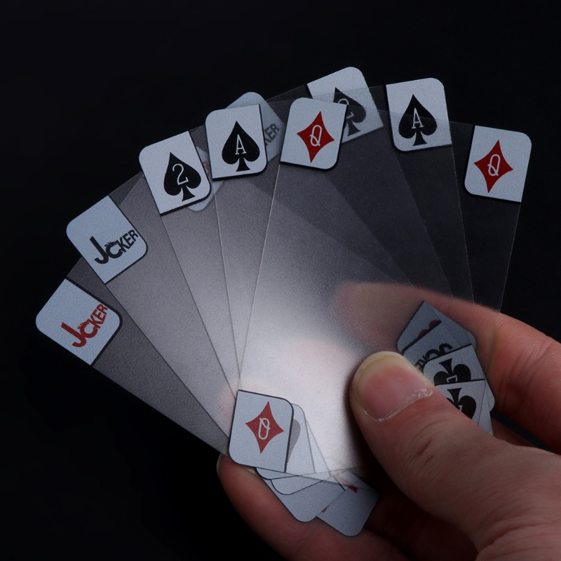 New Transparent Poker Waterproof PVC Poker Playing Cards Plastic Crystal Waterproof Wareable Gift