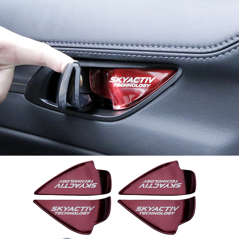 car sticker interior door handle wrist bowl cup trim For Mazda CX 5 CX 3 2017 2018 CX 5 CX 4 Mazda 3 6 Axela ATENZA accessories-in Interior Mouldings from Automobiles & Motorcycles