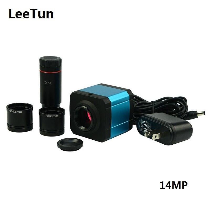 14MP USB Kamera HD Digital Mikroskop Kamera mit 0.5X C-Mount Objektiv 30 30,5mm Adapter Elektronische Okular Video mikroskop