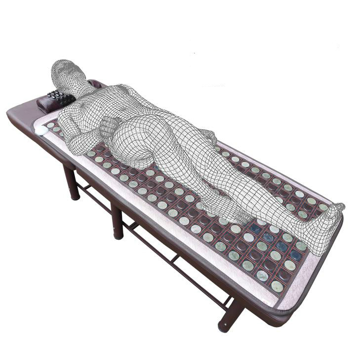 Jade beauty mattress single far infrared heating therapy sweat evaporate germanium stone ms tomalin electric care pad