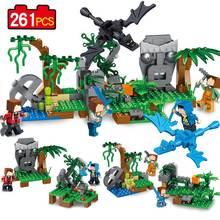 261 pcs 4in1 mon Monde Série village minecrafted Modèle Blocs de Construction Compatible Legoed Minecrafted ville brique jouets pour enfants