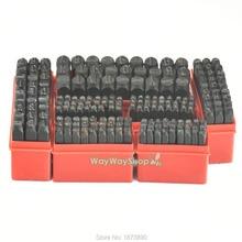 Bir Set Mektup Çelik Damga ALFABE Punch Durumda Kuyumcular Metal 2mm 3mm 4mm 5mm 6mm 8mm 10mm